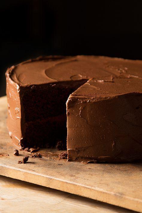 Spicy Chocolate Cake With Avocado Buttercream Recipe