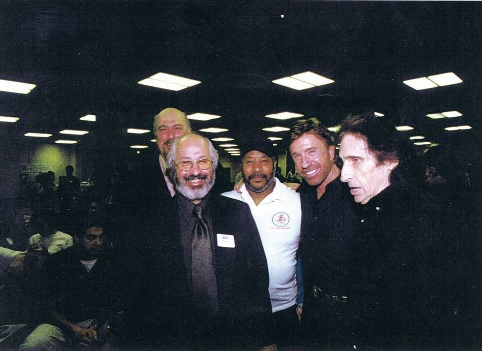 2003 Madison Square Garden Nyc From Left To Right Stephen Kaufman Rick Lenchus Rico Guy Chuck Norris Aaron Banks Chuck Norris Soke Martial Arts