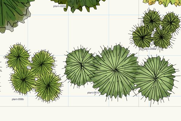 Vectorworks plants 3 zoom4 | Plants, Landscape design ...