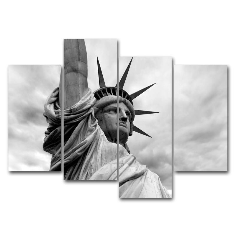Without Frame Decor Canvas 4 Panels Wall Art Statue Of Liberty Canvas Prints Statue New York Statue Statue Of Liberty