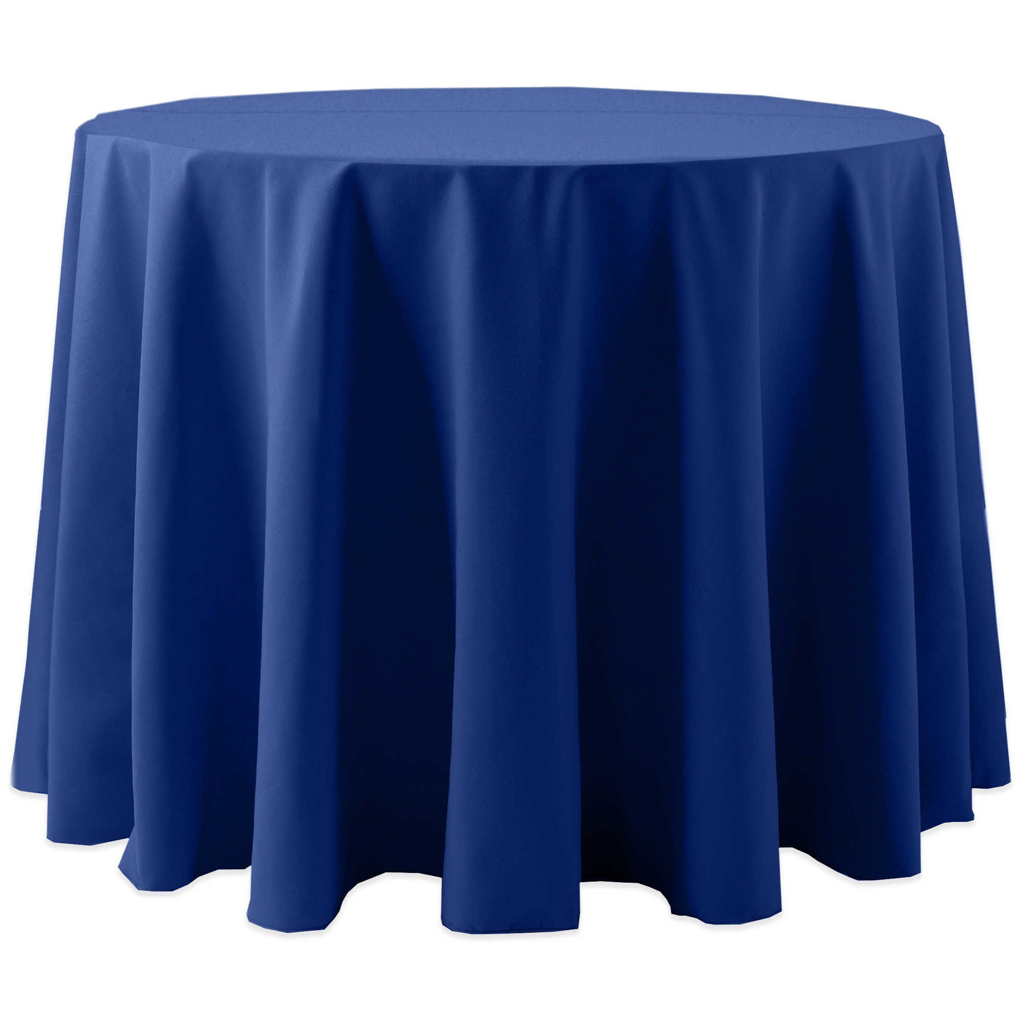 Ultimate Textile 3 Pack Cotton Feel Spun Polyester 90 Inch Round Tablecloth For Wedding And Banquet Hotel Or Home Fine Dining Use Royal Blue