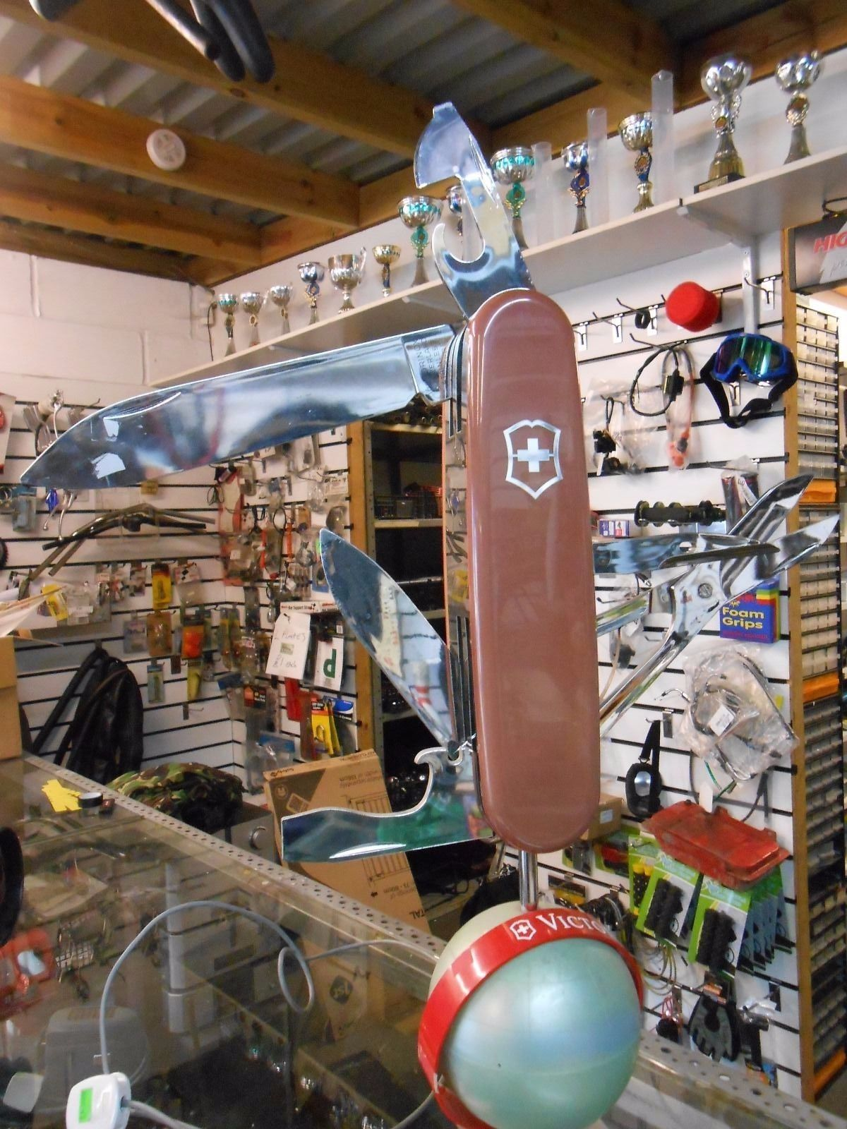 Vintage Swiss Army Knife Display Electric Swiss Knife