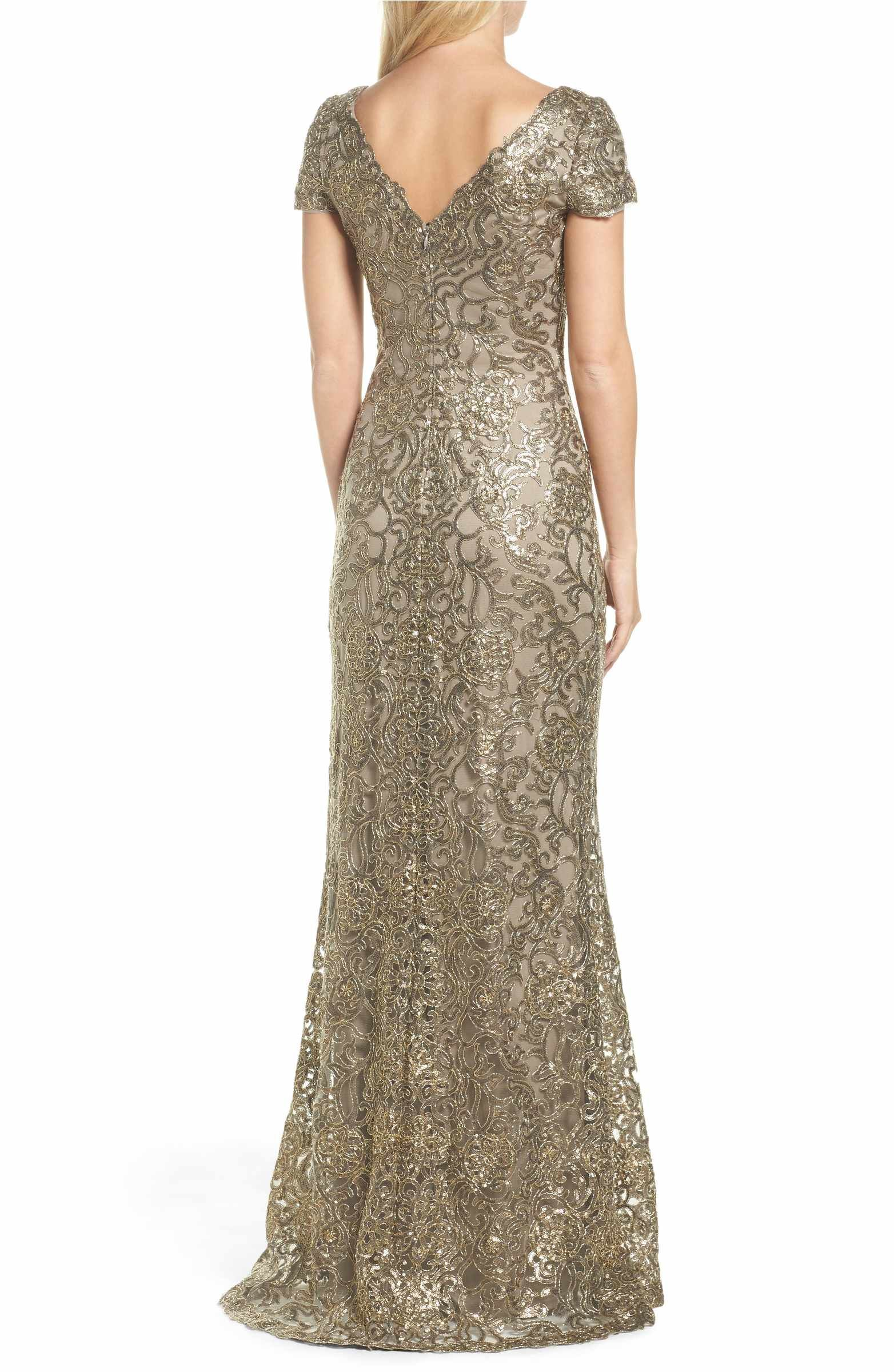 9e8a097efaab Main Image - Tadashi Shoji Corded Lace Gown | Weddings | Lace, Gowns ...