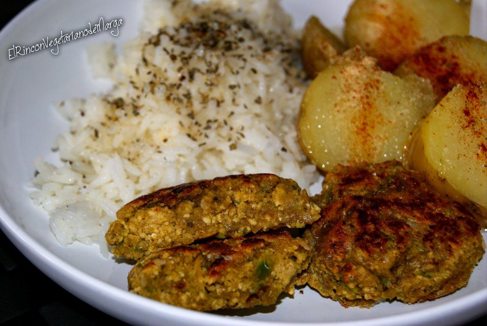 * El Rincón Vegetariano de Marga *: Hamburguesas de soja texturizada y avena con pimiento verde