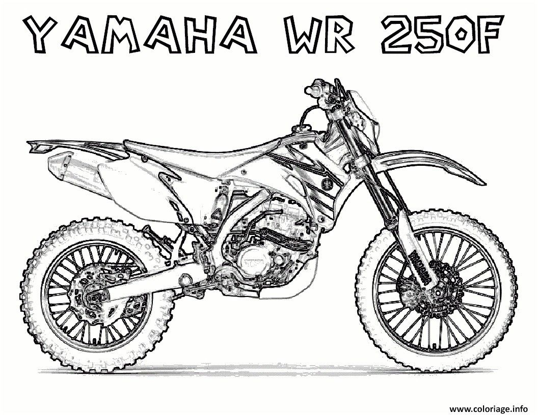 8 Interessant Coloriage Moto Cross Photos Coloriage Moto