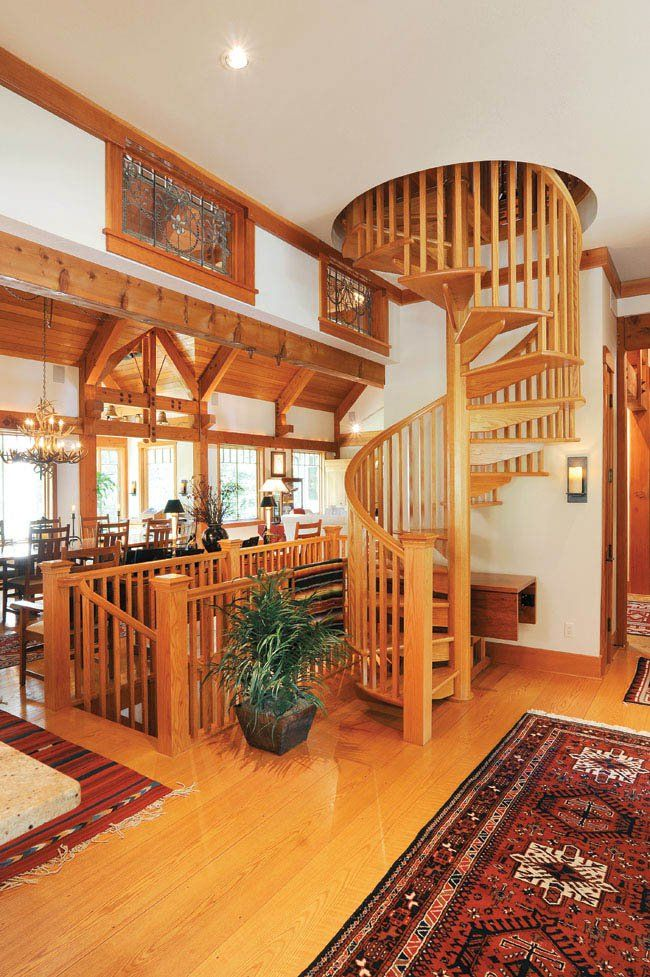 Best The Farm House Stairs Heart Pine Flooring Spiral Staircase 400 x 300