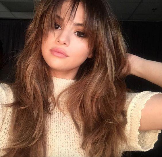The Best Bangs For Your Face Shape Hair Styles Long Hair Styles Selena Gomez Hair