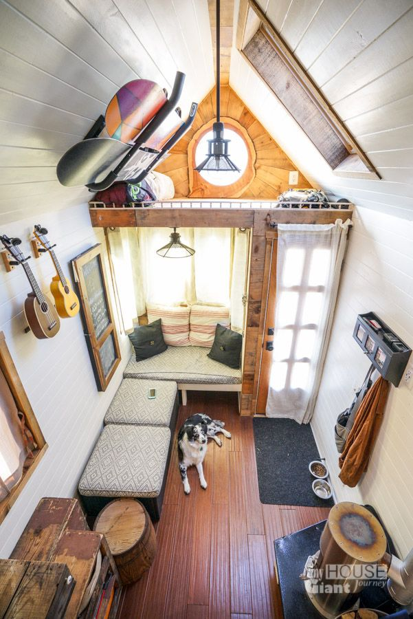 We told you about jenna of tiny house giant journey and her diy tiny house before