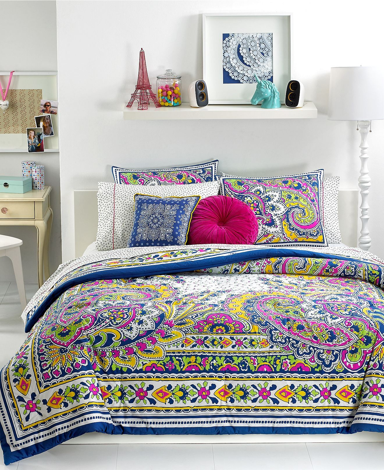 teen vogue bedding pret a paisley comforter sets teen bedding bed bath macy 39 s housing. Black Bedroom Furniture Sets. Home Design Ideas
