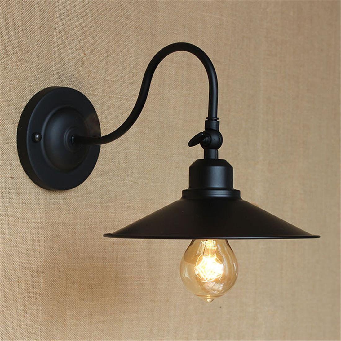 Hjlhylbd American Retro Lampe Outdoor Antike Einfachheit Kreative Personlichkeit Europaische Industrielle Eisen Schlafzimmer Wan Wandleuchte Retro Lampe Lampe