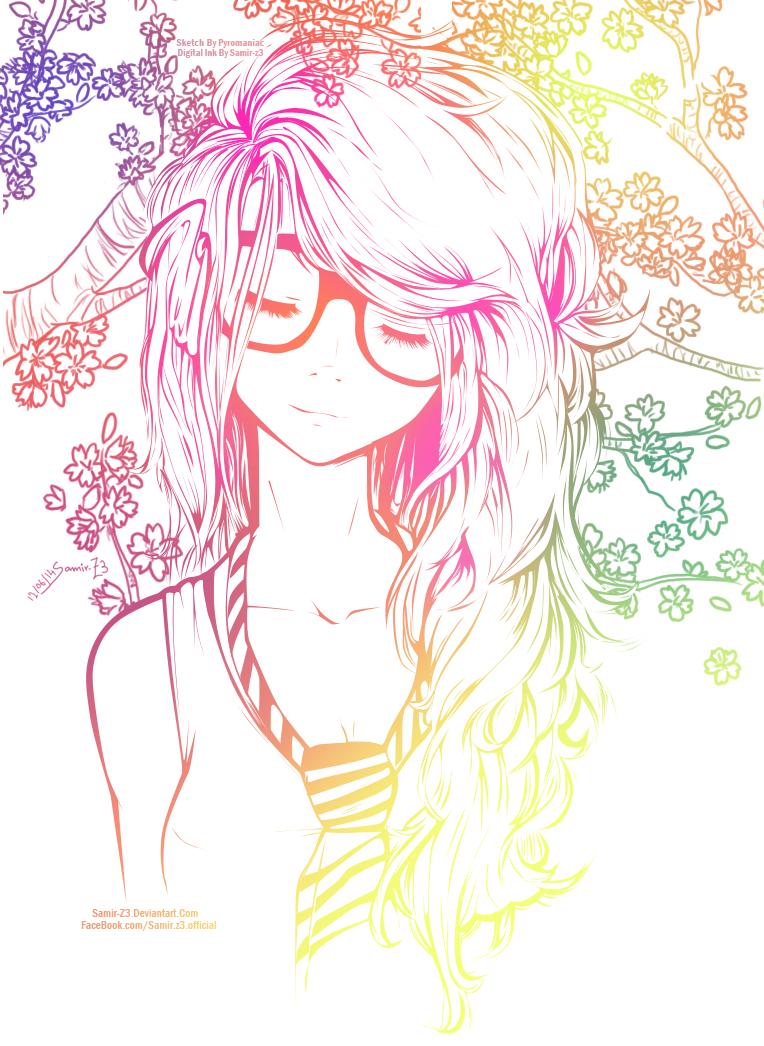 Cute Girl Color By Samir Z3 On Deviantart Anime Art Anime Nerd Awesome Anime