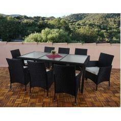 €479. poly rattan garden furniture ariana, lounge set, 8 chairs +, Gartenmöbel
