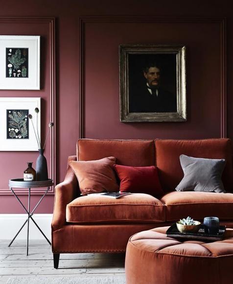 Wandfarbe - Wohnideen mit eine Wand in Rot Edel, Wandfarbe und - farbgestaltung wohnzimmer rot