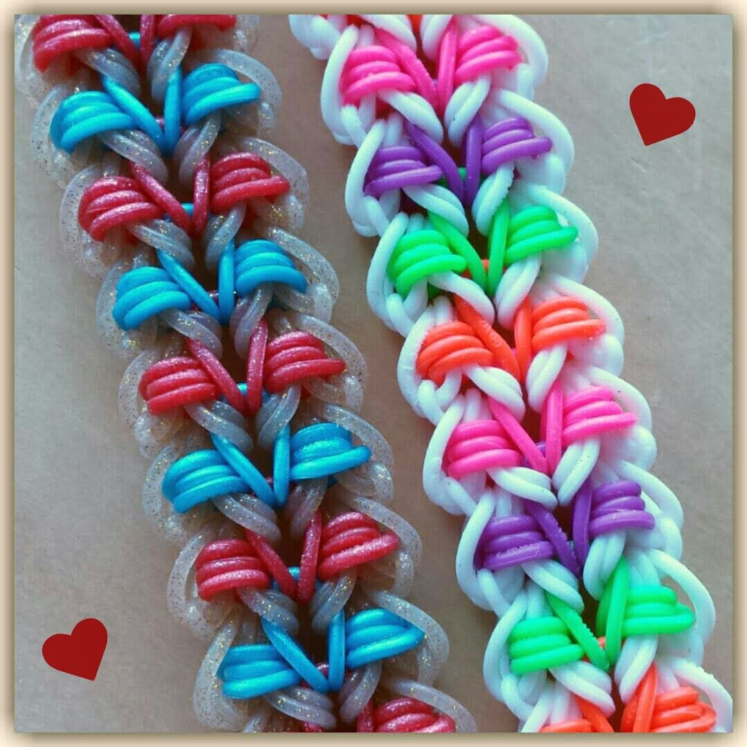 """This is a hooked design. No loom needed. *Zuzu* NEW """"Bikini"""" Bracelet/How To Tutorial"""