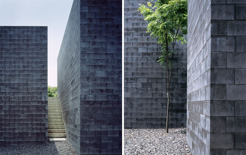 Good A Composition Of Three Monolithic Volumes Constructed Out Of More Than 7000 Concrete  Blocks, The