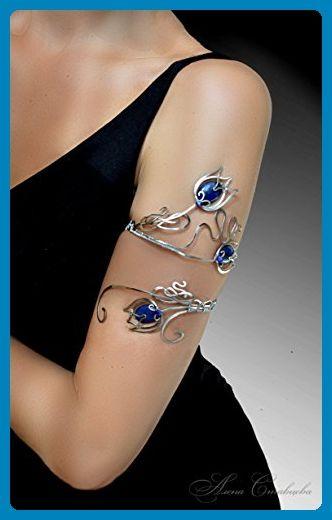 Handmade Upper Arm Cuff Jewelry Bicep Bracelet Silver Copper Or German Wedding Bracelets