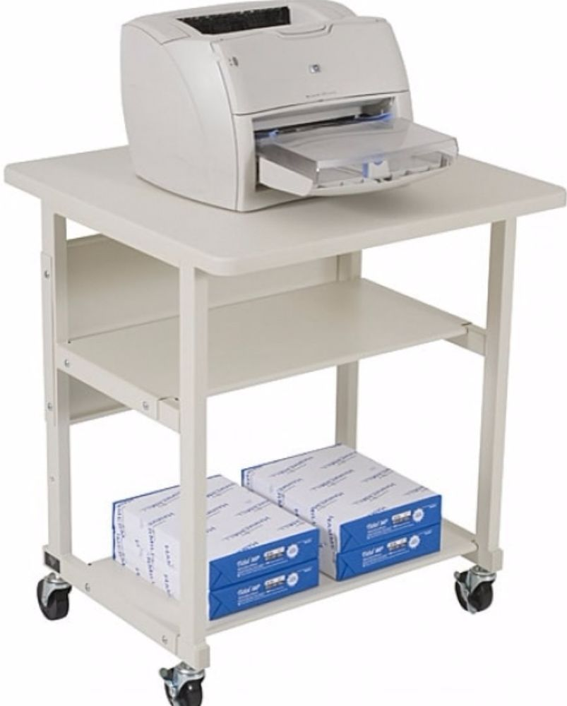Strong Le All Purpose Printer Stand Cart Shelves Storage Office Furniture