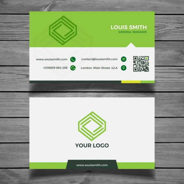 Corporate green business card free vector business cards corporate green business card free vector reheart Images