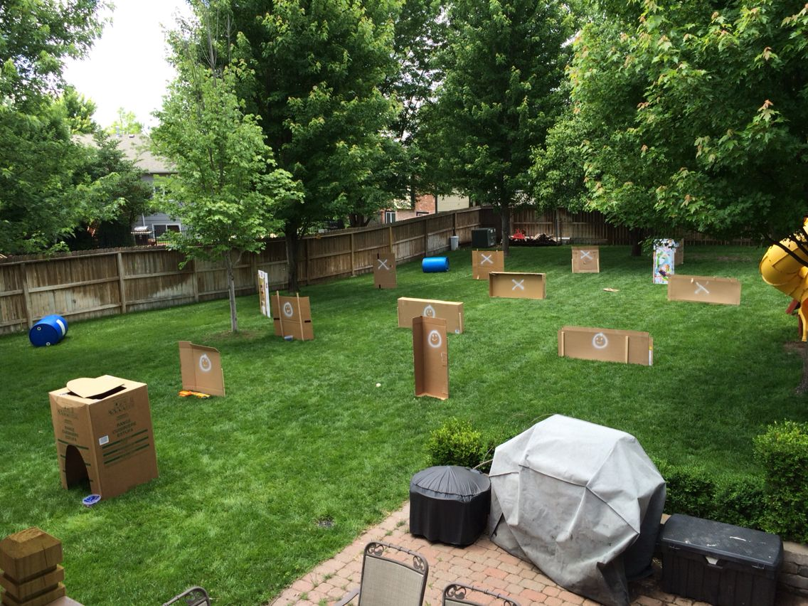 Pin On Nerf Party Backyard diy nerf war course