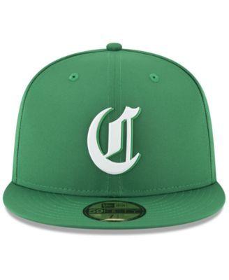 online retailer 2f972 24f16 New Era Cincinnati Reds St. Patty s Day Pro Light 59Fifty Fitted Cap -  Green 7 1 2
