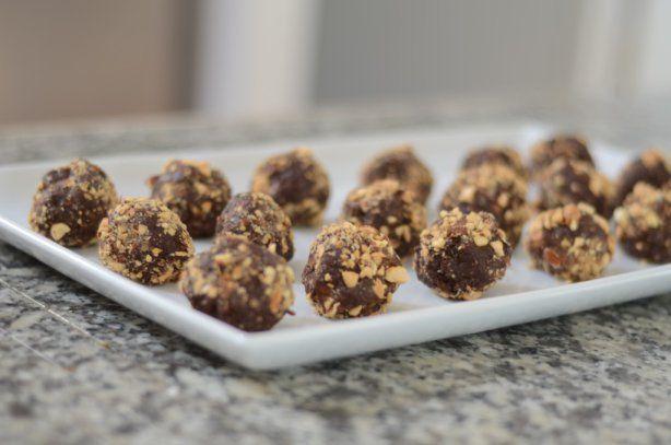 Raw almond chocolate truffles