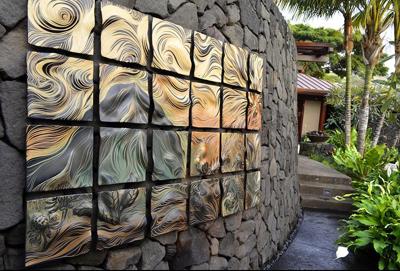 Ceramic Wall Art Tile Outdoor This Is An Amazing Installation