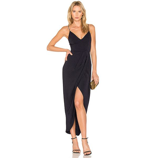 Shona Joy Cocktail Draped Dress ($285) ❤ liked on Polyvore ...
