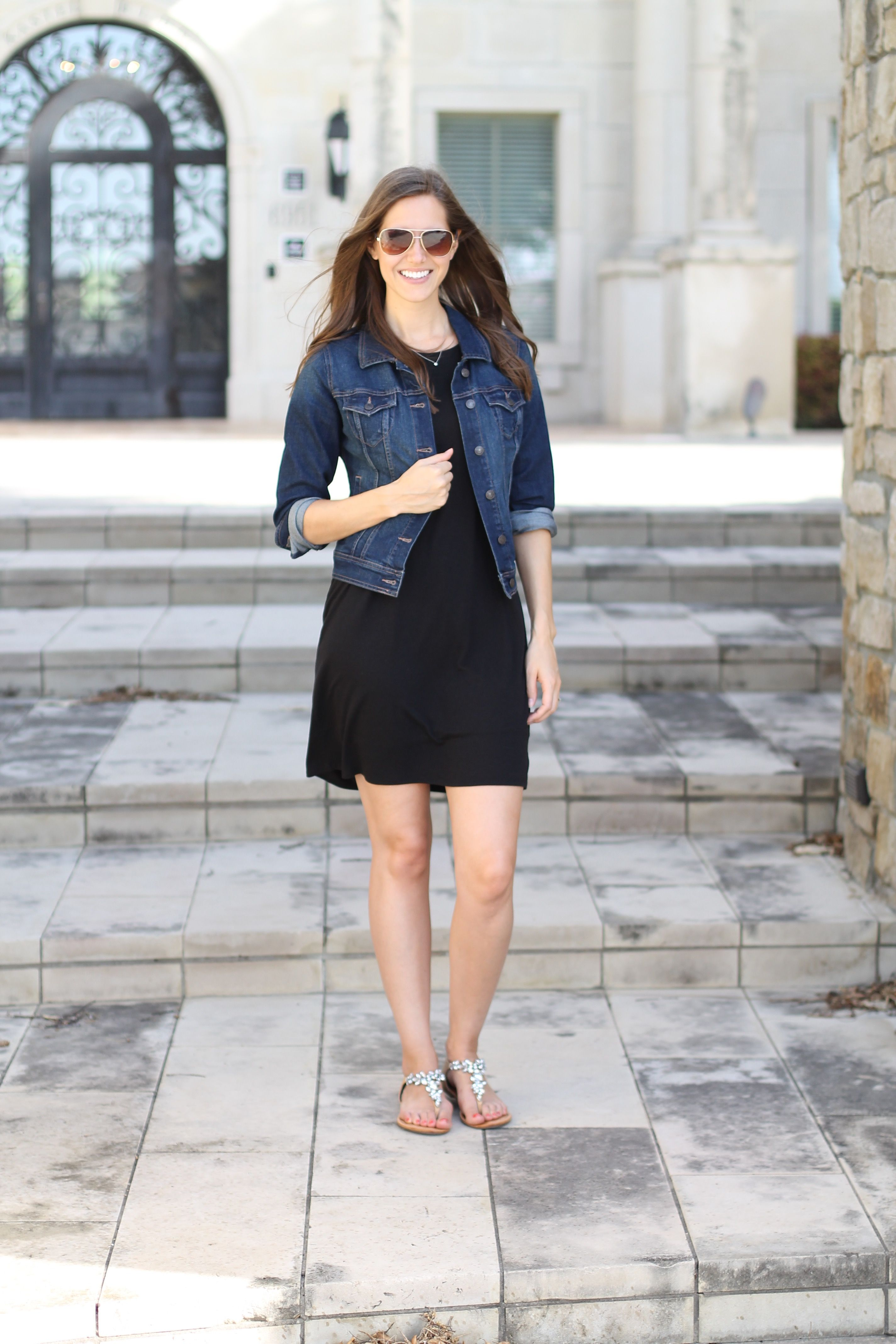 What Not To Pack A Summer Carry On Guide Little Black Dress Outfit Fashion Denim Jacket With Dress [ 4272 x 2848 Pixel ]