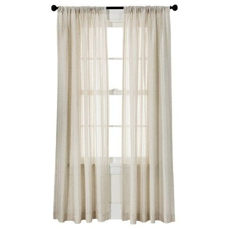 Threshold Leno Weave Sheer Curtain Panel Ivory 54x95 Target