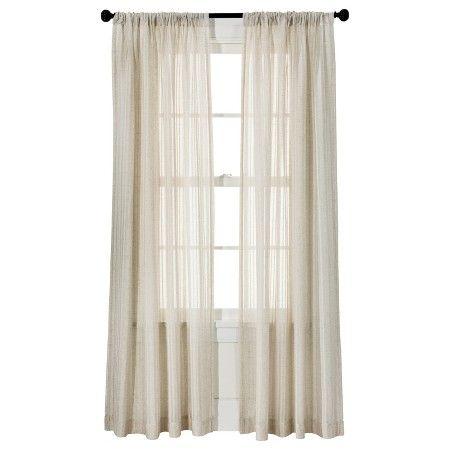 Threshold Leno Weave Sheer Curtain Panel Ivory 54x95
