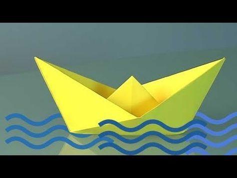 papierschiff falten papier falten origami boot einfaches schiff basteln mit papier. Black Bedroom Furniture Sets. Home Design Ideas