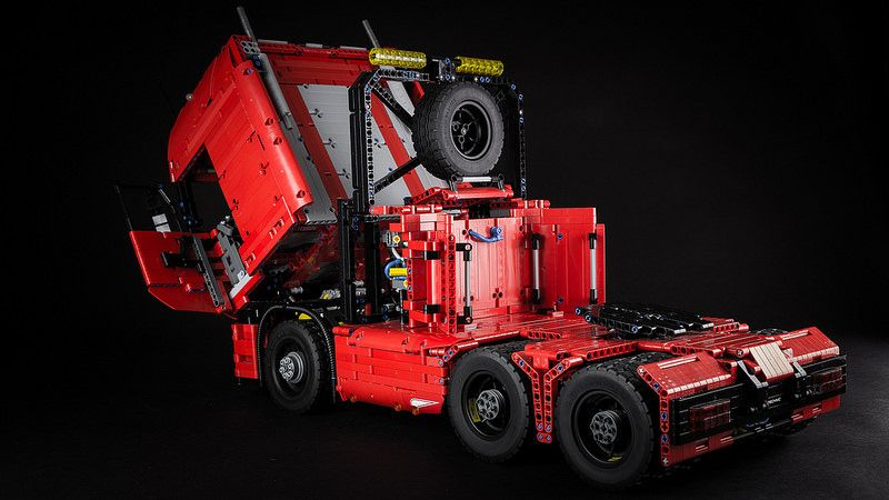lego technic tractor truck lego trucks lego lego. Black Bedroom Furniture Sets. Home Design Ideas