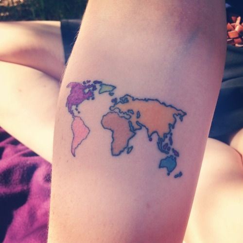 Earth map tattoo for christopher pinterest map tattoos earth map tattoo gumiabroncs Gallery
