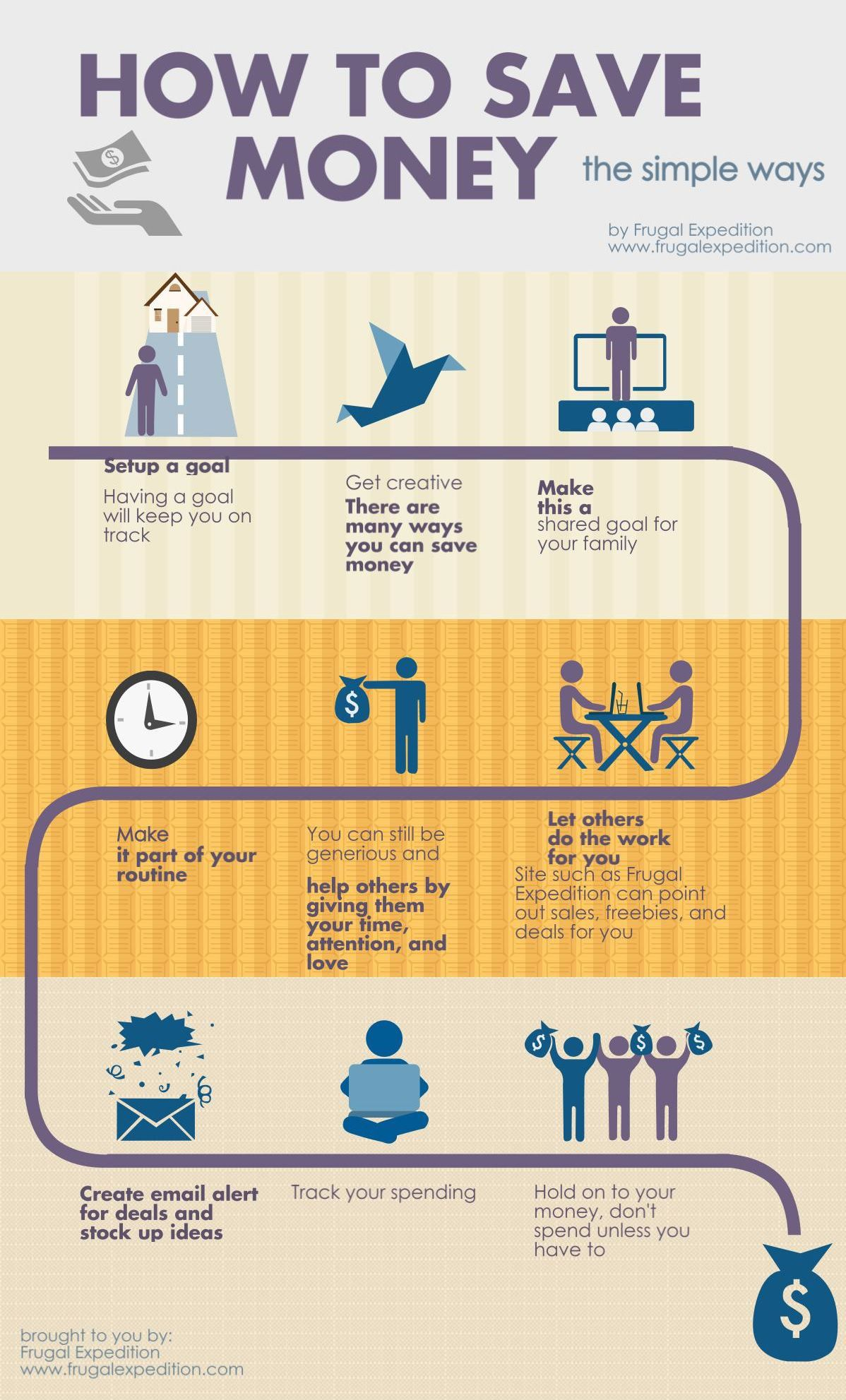 How To Save Money Infographics