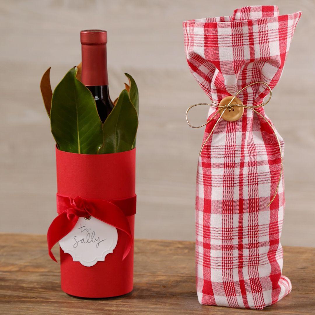 Three Creative Ways To Wrap A Wine Bottle Birthday Wine Bottles Wrapped Wine Bottles Wine Bottle