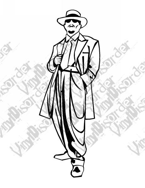 Zootsuit Zoot Suit 2 Hydrolics Lowrider Low Rider Car Vinyl Decal