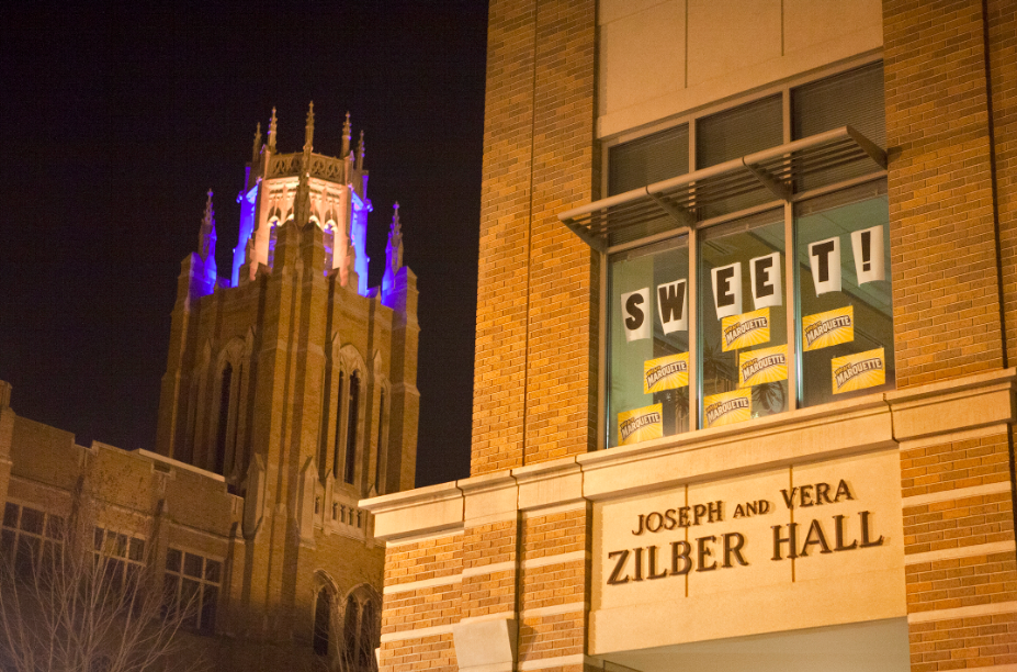 Zilber Hall and Marquette Hall.