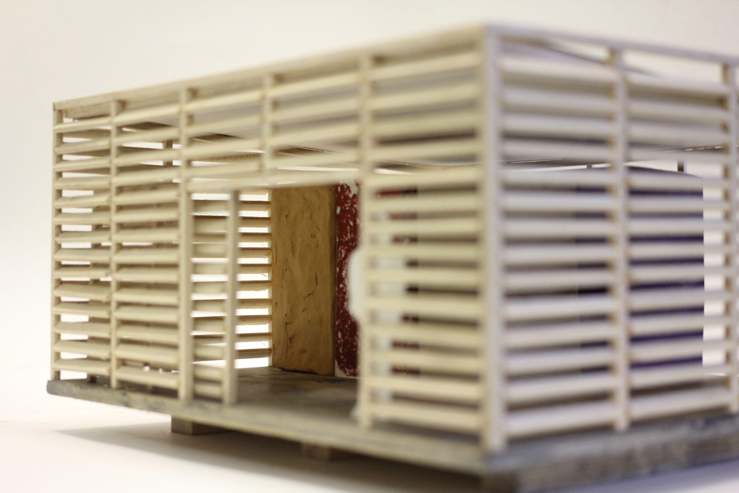 Model of observatory proposal, built by Simon Barkworth.