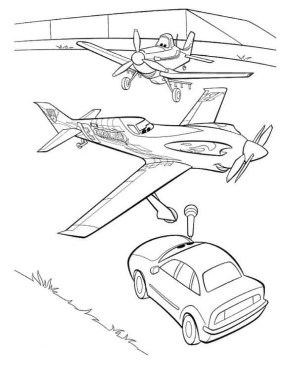 Ripslinger The World Champion In Disney Planes Coloring Page