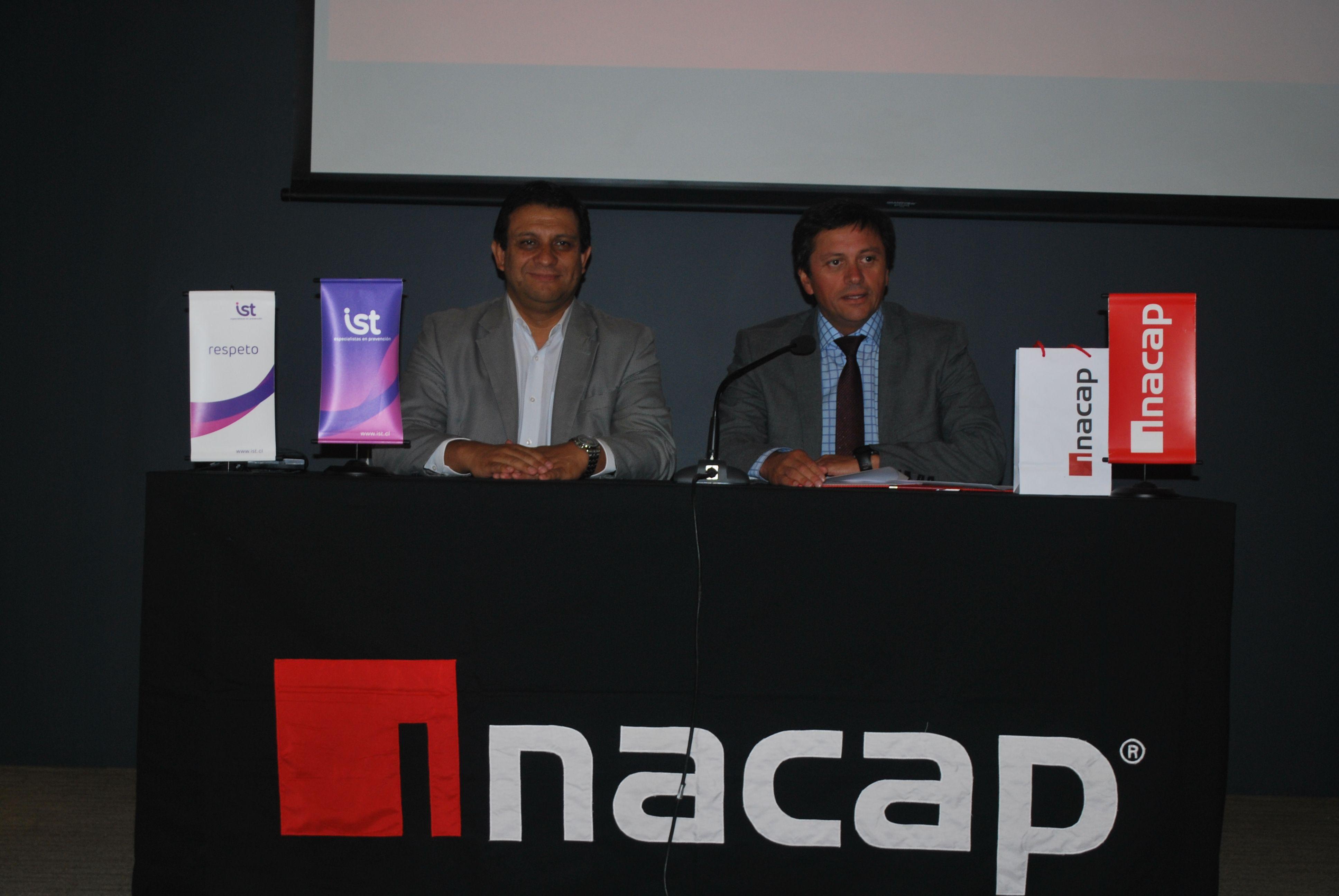 Óscar Olate y Andrés López, vicerrector de INACAP Concepción-Talcahuano
