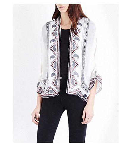 THE KOOPLES Paisley-Print Silk Jacket. #thekooples #cloth #coats & jackets