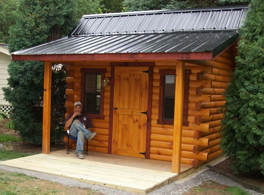 10x12 Pioneer Log Cabin Container living ect