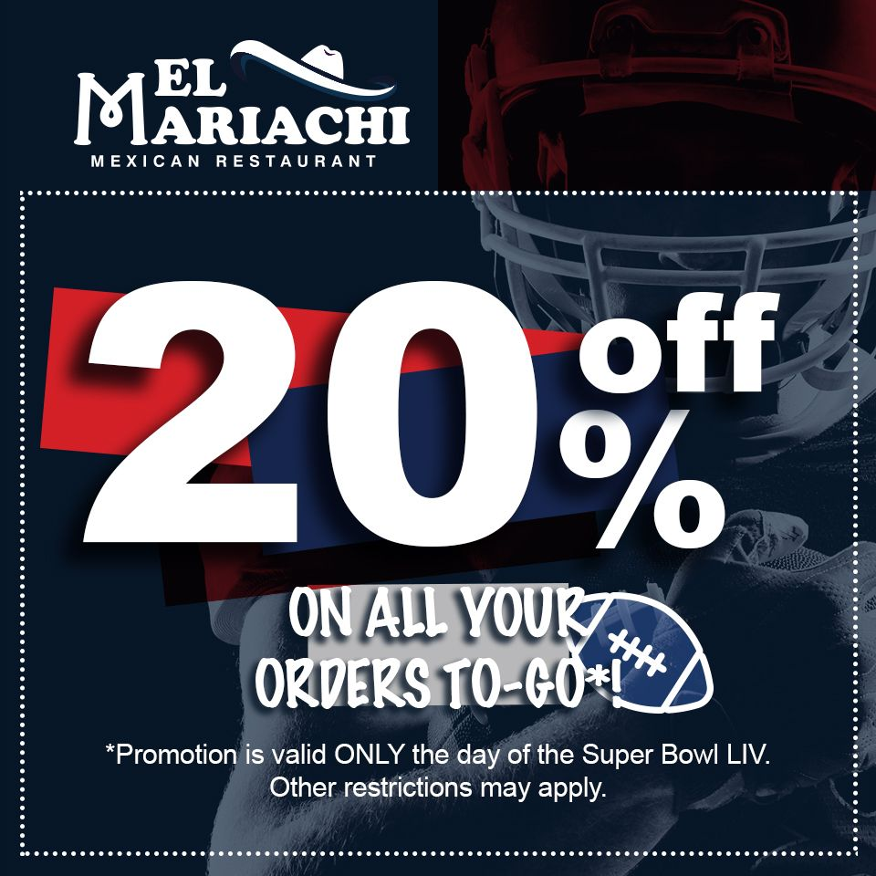 Score Big At Your Party On Super Bowl Sunday All Take Out Orders From El Mariachi In East Providence Will Receive A In 2020 Mexican Restaurant Nachos Supreme Mariachi