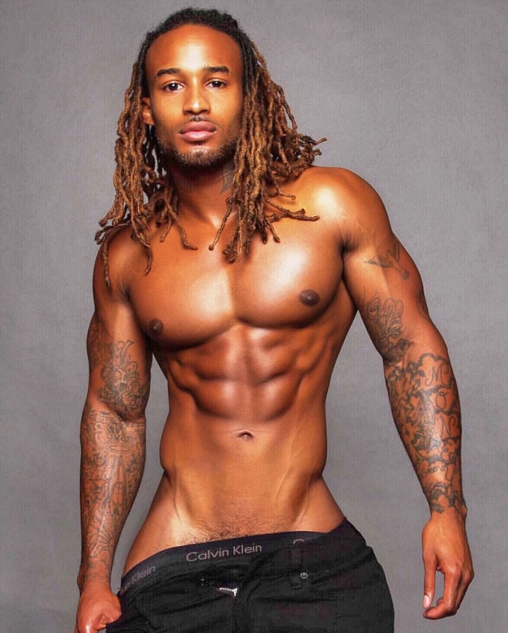 Model sexiest black male dreadlocks, fucking ballet pose