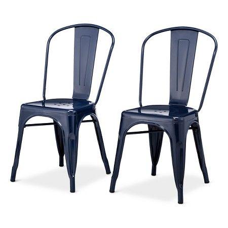 Carlisle High Back Metal Dining Chair Teal Set Of 2 Target