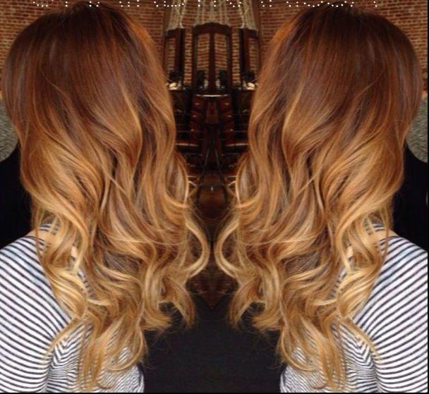 ombre hair blonde Auburn