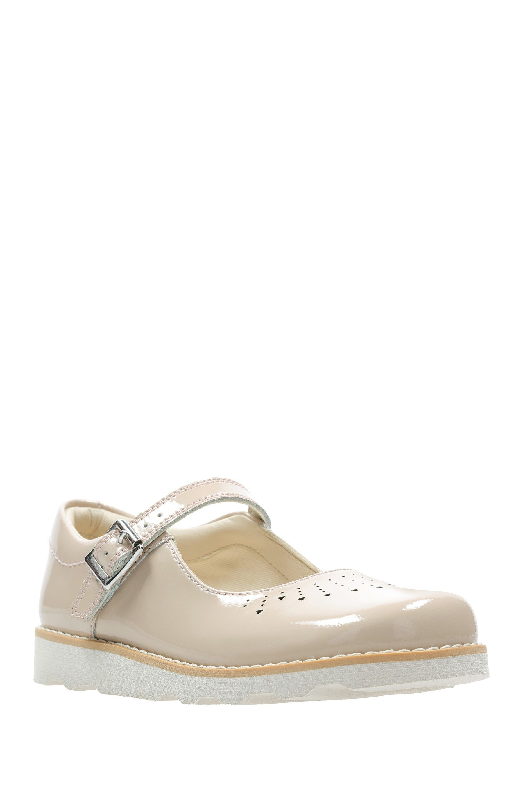 44ed1704e1f Girls Clarks Nude Crown Jump K Shoe - Nude in 2019