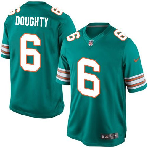 Wholesale Youth Nike Miami Dolphins #6 Brandon Doughty Limited Aqua Green  supplier