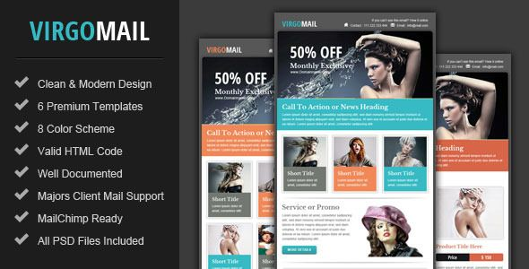 Piscesmail - Email Newsletter Template  Piscesmail Email - email newsletter template