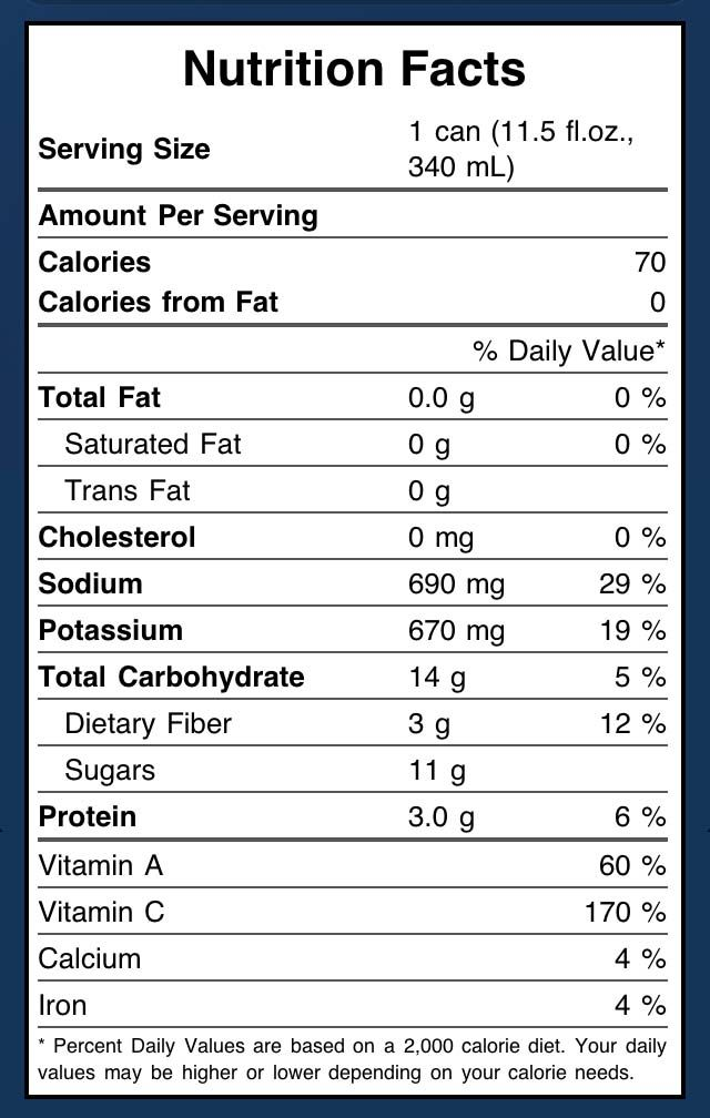 V8 Juice Nutrition Facts Get More Nutrition Tips At Nutrition101